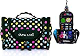 Cosmetic Bag - MakeUp Organizer - Lightweight Hanging Toiletry Travel Bag with Multiple Compartments in Polka Dot, Durable, Stylish & Fun