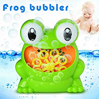kebyy Frog Battery Operated Automatic Bubble Machine Bubble Maker for Kids Indoor Outdoor: Toys & Games