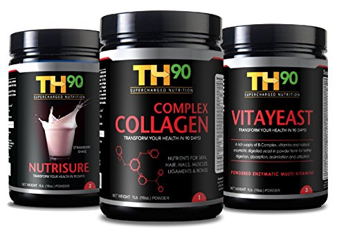 TH90 Kit - Strawberry + Collagen + Brewer's Yeast - 1Lb. (16OZ) Nutrition Shake