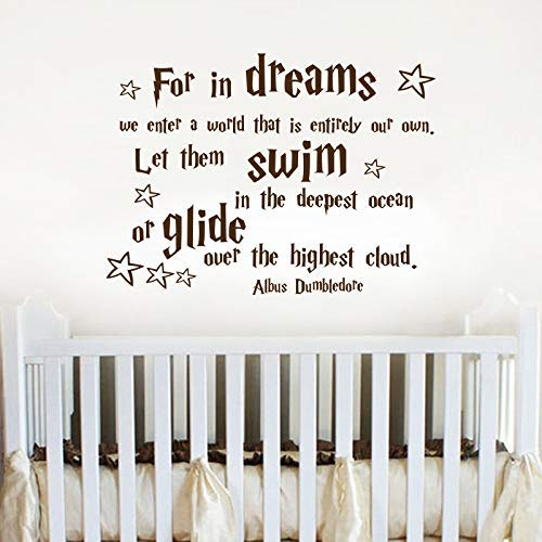Amazoncom For In Dreams We Enter A World Decalnursery Quote Decal