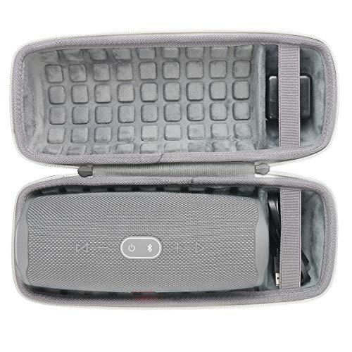 co2crea Hard Travel Case for JBL Charge 4 Waterproof Bluetooth Speaker (Ouside Black and Inside Grey)
