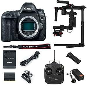 Canon EOS 5D Mark IV 30.4 MP Full Frame CMOS DSLR Camera (Body) w/ DJI Ronin M 3-Axis Brushless Gimbal Stabilizer