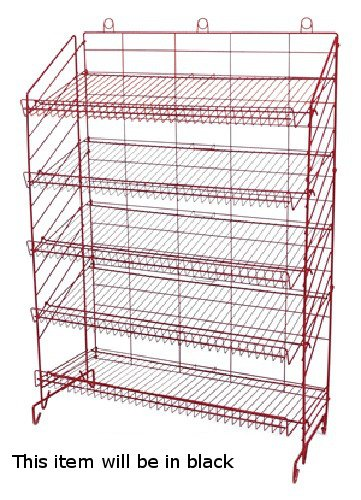 New Retail Five Shelves Adjustable Display Rack 54''H x37''W x16''D in Black by Display Rack
