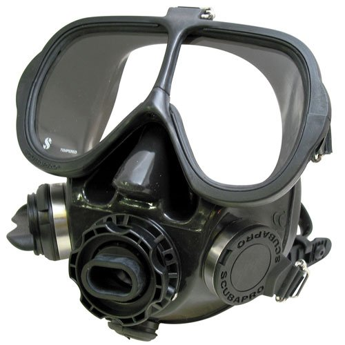 Scubapro Full Face Mask, All Black