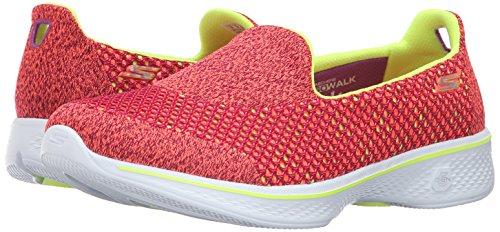 Skechers Femme Go Kindle Basses lime pink Multicolored 4 Pklm Walk vvBTrW