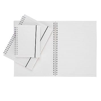 Spirale Notebook transparent PP Abdeckung gefrostet Notizblock ...
