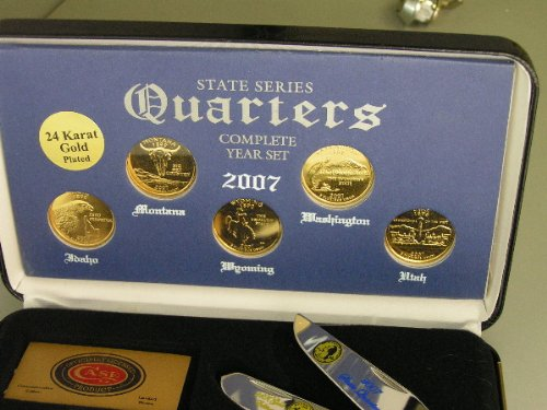 CASE XX 2007 2007 2007 State Quarter Gold Series Trapper 1 3000 Stainless Pocket Knife Set B004Z1XXBI Taschenmesser Neuankömmling e2668a