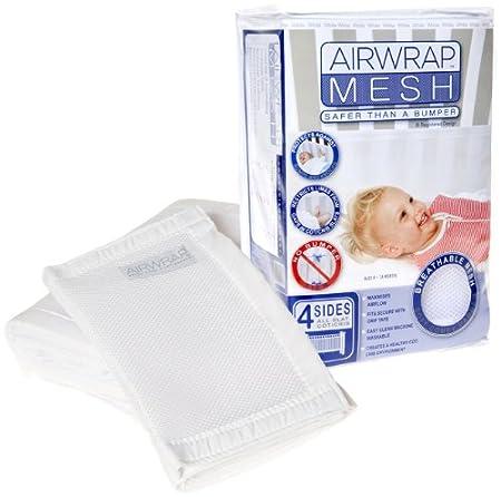 Airwrap - Rete paracolpi per lettino, 4 lati, Bianco (White) My Child 8-01-016