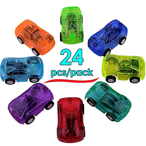 DOPHYRANIX Pull Back Friction Cars, 24 Mini Assorted Race Car Vehicle Playset for Toddlers & Kids Party Favor Ideal Birthday Party, Bulk School Reward Prizes, Décor, Carnival and Events -