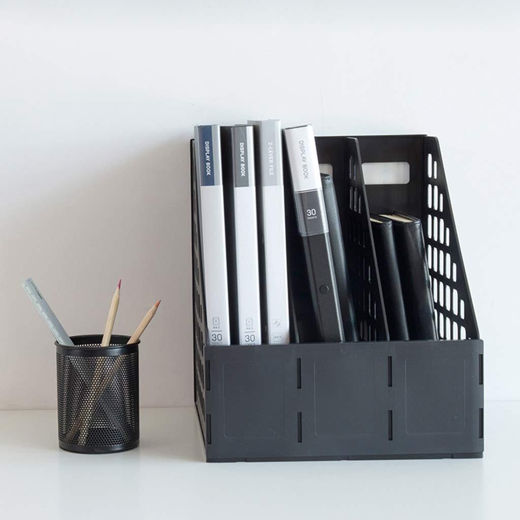 Drei Gitter Aktenhalter Desktop Datengestell Finishing Box Lagerregal Lagerregal Lagerregal Bürobedarf Dicker Kunststoff Hohe Kapazität (Farbe    3) B07MV84VN9 | Good Design  e00f56