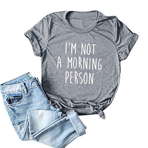 LuluZanm Letter Print T-Shirt for Women Sale Ladies Fashion O-Neck Short Sleeve Blouses Basic Summer Tops Plus S-5XL