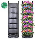 Richoose Vertical Hanging Garden Planter with 7 Pockets, New Upgrade Waterproof Wall Mount Planter Pouch Solution (2019)