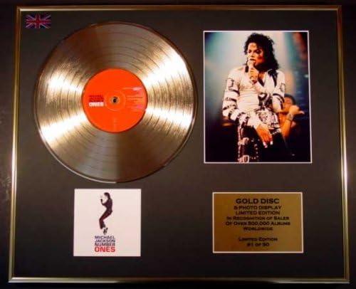 Michael Jackson Gold Vinyl Record Cd Photo Display Limited Edition Coa Number Ones Küche Haushalt