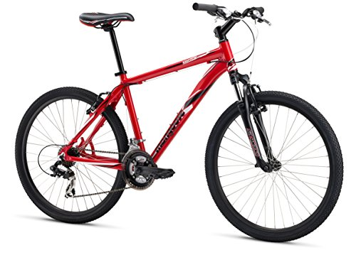 Mongoose M13SWISS1 Men's Switchback Sport Mountain Bike, Red, 16'/Small