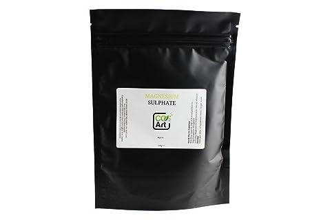 Sulfato de Magnesio (MgSO4) - 250g - Fertilizante de Sal Seca de Tanque Plantado