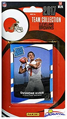 Cleveland Browns 2017 Donruss NFL Football Factory Sealed Limited Edition 14 Card Complete Team Set with DeShone Kizer Rated Rookie, Legend Jim Brown & Many More! Shipped in Bubble Mailer! WOWZZER!
