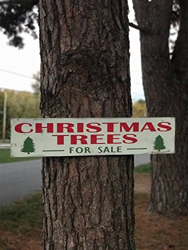 Fixer-Upper Christmas Trees For Sale Wood Sign / Rustic Christmas Sign / Weathered Hand Painted Christmas Sign / Large Distressed Christmas (Christmas Trees For Sale Sign)