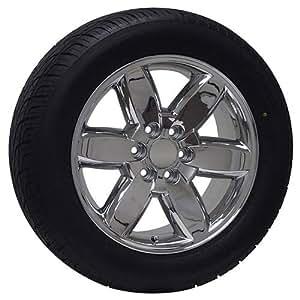 20 inch gmc truck chrome rims wheels tires yukon denali sierra automotive. Black Bedroom Furniture Sets. Home Design Ideas