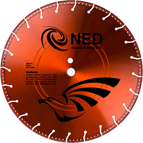 NED 100BERES1414 14'' x .142 x 1''/20mm DP Black Eagle Rescue Specialty Blade