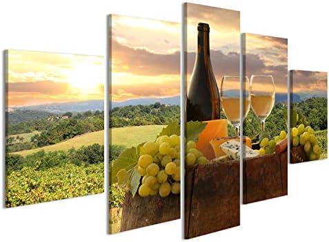Quadri Moderni Stampa Su Tela Vino Rosso Arredo Bar Cucina Quadro Moderno XXL