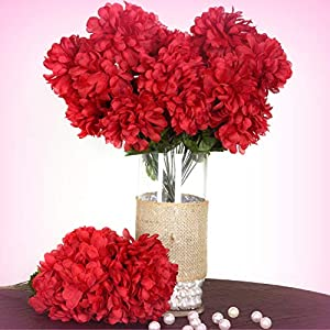 Inna-Wholesale Art Crafts New 4 Burgundy Large Silk Chrysanthemums Mums Bushes Decorating Flowers Bouquets Sale - Perfect for Any Wedding, Special Occasion or Home Office D?cor 33
