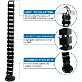 Mount-It! Cable Management Spine, Desk Cord