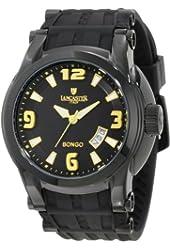 Lancaster  Men's OLA0549BK-NR-GL-NR Bongo Black Dial Black Silicone Watch