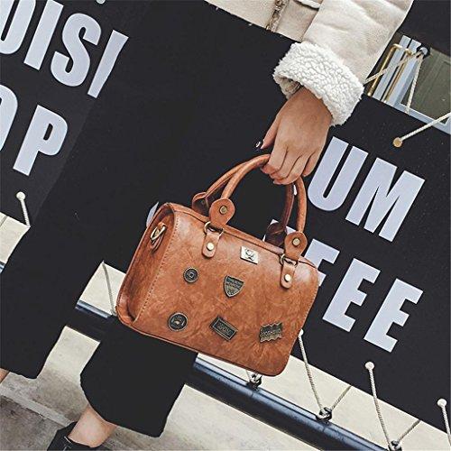 Rétro brown Mode à Shopping Unique à Sac Tour light Tourisme SHOUTIBAO Badge Sac Main Bag bandoulière Party Femmes Messenger qYSwR