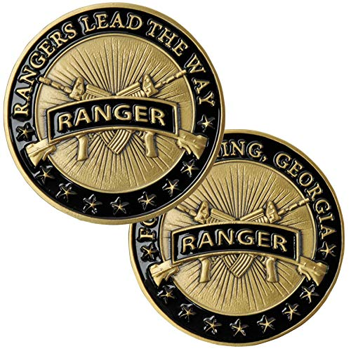 (Medals of America Army Ranger Challenge Coin Gold)