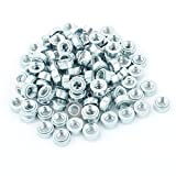 DealMux M6-0 Knurled Metal Self Clinching Nut Fastener 100pcs for 1.2mm Thick Thin Plate