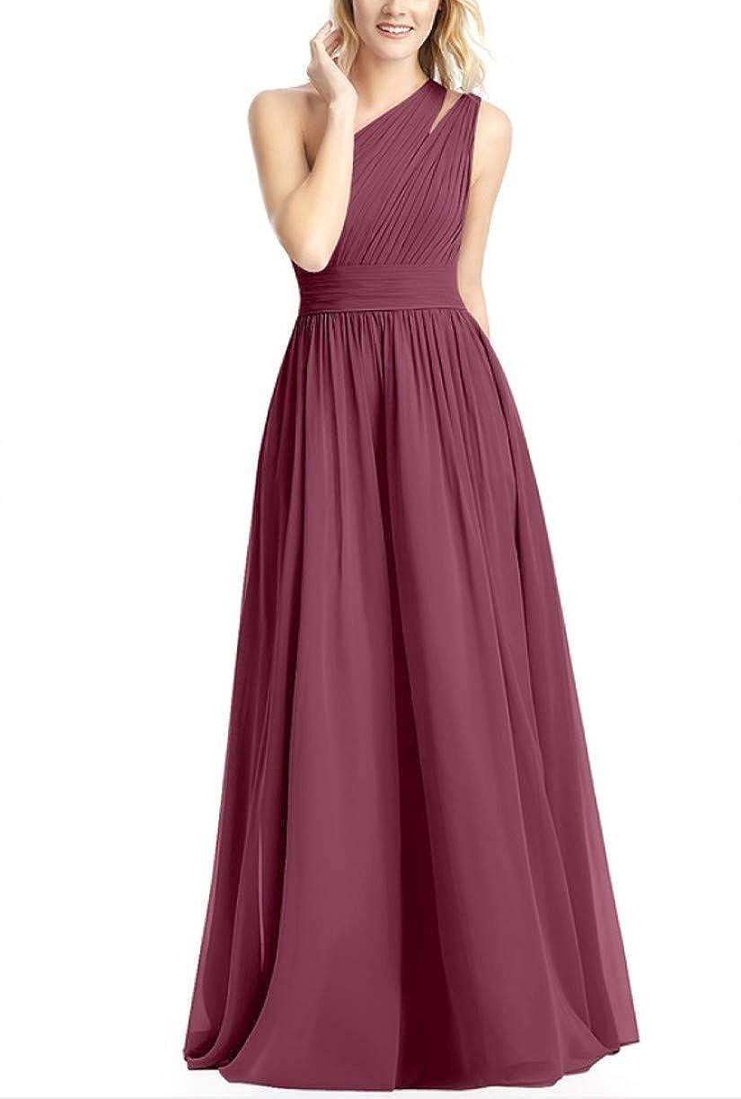 Mulberry RTTUTED Women's FullLength One Shoulder Bridesmaid Dress Evening Prom Gowns Skirt