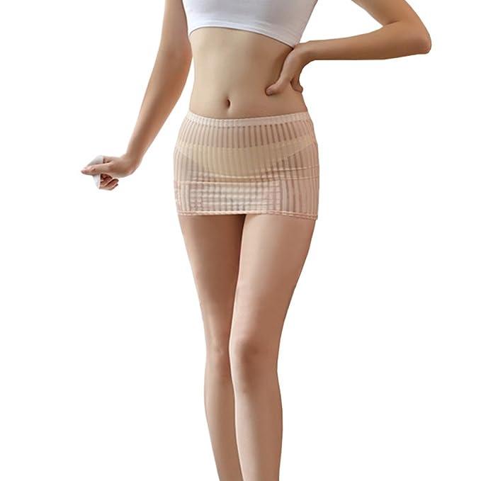 74831e8f4 Youmu Mujer Elástico vendaje Bodycon Sexy falda mini rayas Clubwear ...