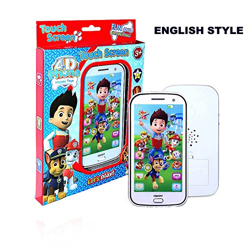 Luxbody(TM) English/Russian children toy phone with light touch-screen music cell phone toys Music Recording Educational Toys WJ307