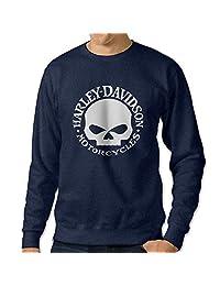 C2Ucdi Men's Harley Davidson Logo Hooded Sweatshirt