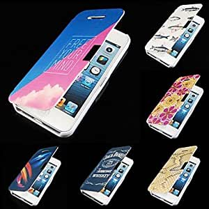 LZX 7 Colour Prints PU Leather Full Body Case for iPhone 5/5S (Assorted Color) , 6#