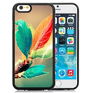 Beautiful Custom Designed Cover Case For iPhone 6 4.7 Inch TPU With Colorful Leaves Phone Case Cover