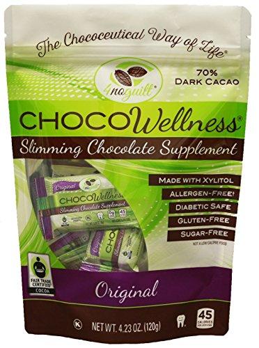 CHOCOWellness® -70% Sugar Free Dark Chocolate Slimming Supplement - 4 Pack by 4noguilt®