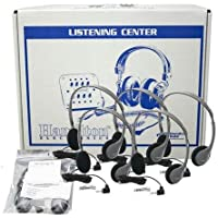 Hamilton Buhl Lab Pack, 12 HA2V Personal Headphones in a Laminated Cardboard Carry Case