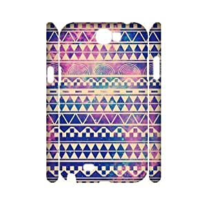 Aztec Tribal Pattern DIY 3D Cover Case for Samsung Galaxy Note 2 N7100,personalized phone case ygtg537909 WANGJING JINDA