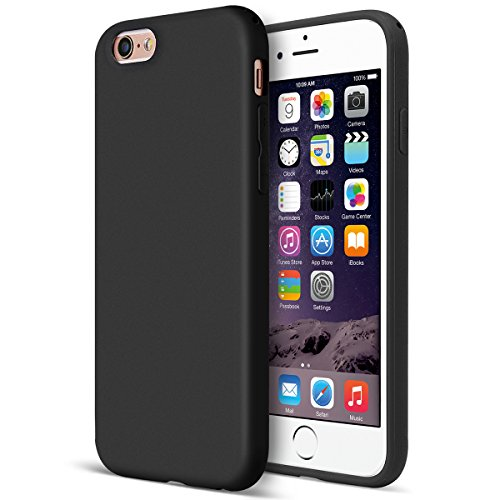 MUNDULEA Matte Case Compatible iPhone 6/6s Flexible TPU Protective Cover Compatible iPhone 6s/ iPhone 6 (Black) (Black Iphone 6 Case)