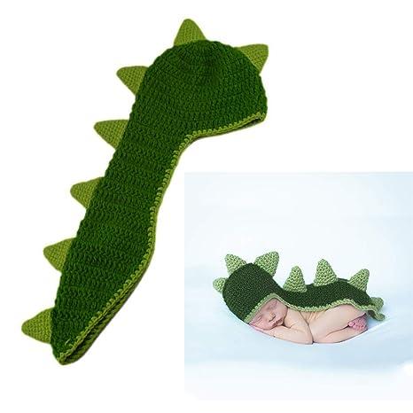 Toyvian Accesorios de fotografía de bebé dinosaurio suave ...