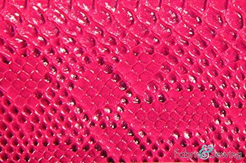 Purple Snake Skin Faux Fake Leather Vinyl Fabric Polyester 54