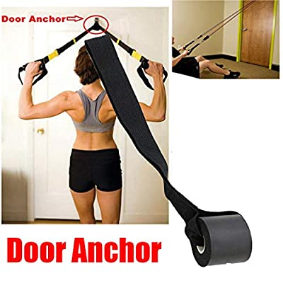 BITOPYTOPSIY Foam Door Anchor for Resistance Band Tube Doorway Muscle Building Strength Flexibility Trainer Stretching Equipment Black: Clothing