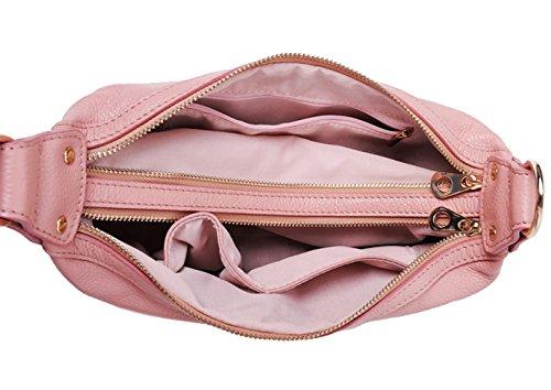 Cow Orange Bag Shoulder Tote Saierlong Women's Handbag Single Leather q6fAAz