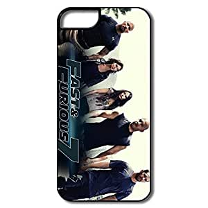Funny IPhone 5/5s Protective Cases For Family - Custom Your Own Fast Furious 7 Hard Plastic Cell Phone Shell Case For IPhone 5/5s hjbrhga1544
