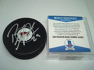 Brendan Perlini Signed Arizona Coyotes Hockey Puck Autograph - Beckett Authentication