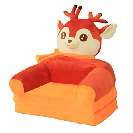 Awesome Animal Chair Plush Sweet Childrens Furniture Kids Soft Sofa Seat Cartoon Chairs Best Gifts For Boys Girls Bean Bag Armchair Seats Red Deer Folding Gmtry Best Dining Table And Chair Ideas Images Gmtryco