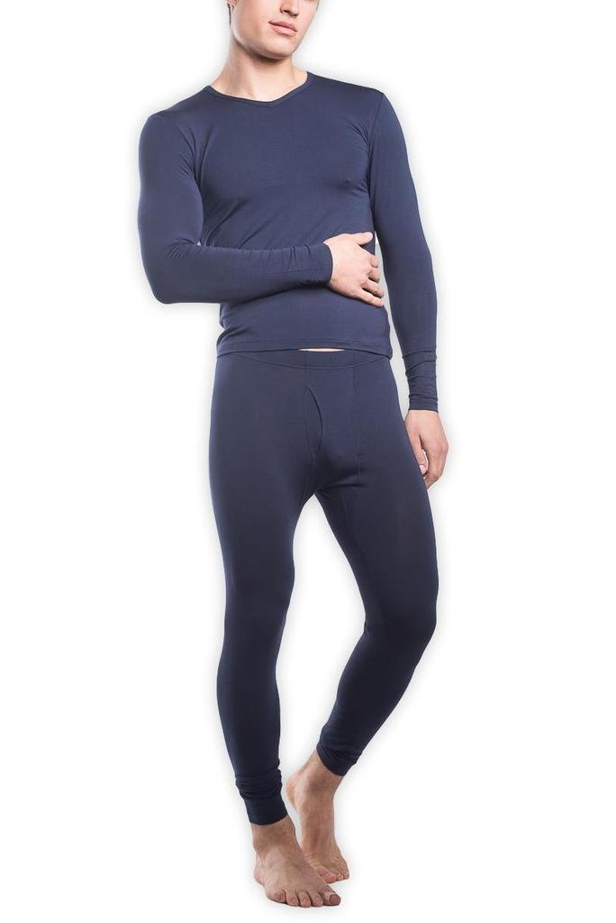 Tani USA Men's SilkCut Thermal Underwear Set, Medium, Navy by Tani USA