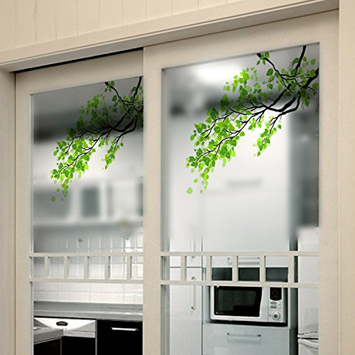 Window Treatments - 60x58cm Frosted Opaque Glass Window Film Tree Privacy Glass Stickers Home Decor - Window Film Tree Designer Life Decal Stained Glass Tint - Peel And Stick Privacy -