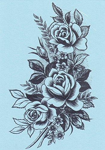 DaLin 4 Sheets Temporary Tattoos for Women (Black